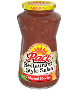 Pace Salsa, Restaurant Style, Original Recipe, Medium Salsa, Perfect for Taco Night, 16 oz. Glass Jar