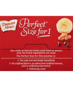 (2 Pack) Duncan Hines® Perfect Size for 1® Sunrise Banana Bread Mix 4 ct Box