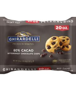 Ghirardelli 60% Cacao Bittersweet Chocolate Premium Baking Chips – 20 oz.