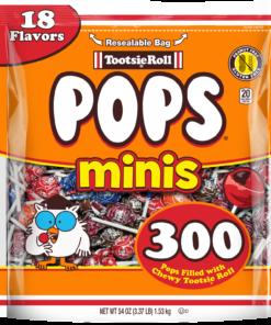 Tootsie Roll, Mini Tootsie Pops, 54 Oz