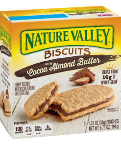 Nature Valley Almond Butter Nut Filling Breakfast Biscuits 5 Pouches