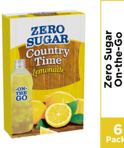 (5 Pack) Country Time Lemonade On-The-Go, Zero Sugar Powdered Drink Mix
