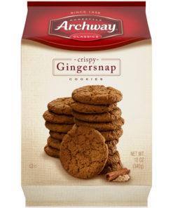 Archway Cookies, Crispy Gingersnap Cookies, 12 Oz
