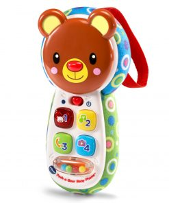 VTech Peek-a-Bear Baby Phone, Toy Phone with Lights and Music for Baby