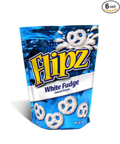 6 PACKS : Flipz Pretzels, White Fudge, 5-Ounce Packages