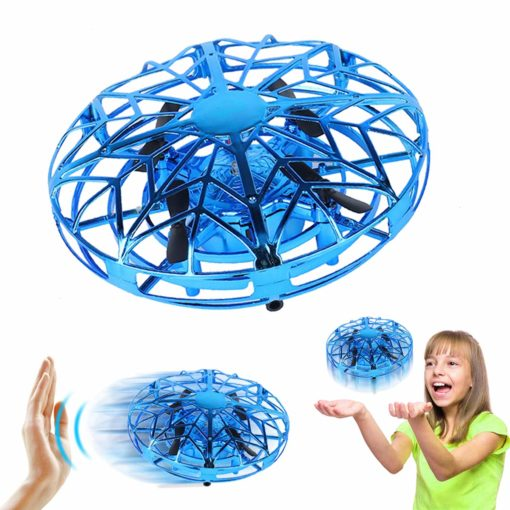 Amerteer Mini Drone for Kids Adults, Flying Ball Hand Controlled Quadcopter Light Up Flying Toys, UFO Flying Ball Drone Toys with 360°Rotating Helicopter Outdoor Toys Holiday Birthday Gifts