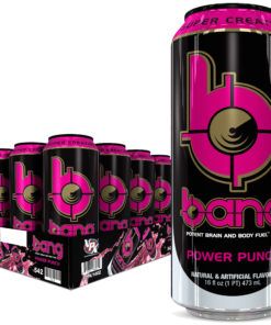 Bang Power Punch Energy Drink with Super Creatine, 16oz 12pk