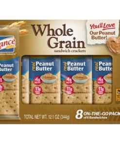Lance Whole Grain Peanut Butter Sandwich Crackers, 8 Ct