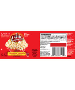 (2 Pack) Orville Redenbacher's Popping & Topping Buttery Flavored Oil, 16 Fluid Ounce