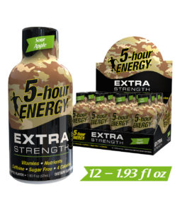 (12 Count) 5-hour ENERGY® Shot, Extra Strength, Sour Apple, 1.93 oz