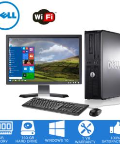 Dell – Optiplex Desktop Computer PC ? Intel Core 2 Duo – 4GB Memory – 160GB Hard Drive – Windows 10 – 19″ LCD (Refurbished)