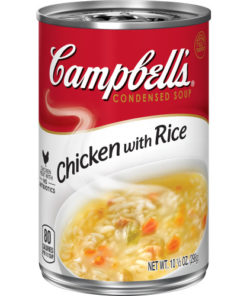 (4 pack) Campbell'sCondensed Chicken with Rice Soup, 10.5 oz. Can