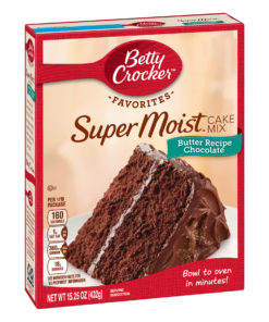 (2 pack) Betty Crocker Super Moist Butter Recipe Chocolate Cake Mix, 15.25 oz