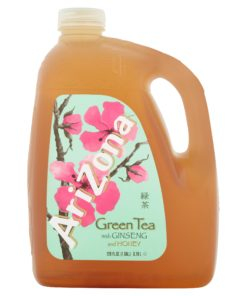 (2 Bottles) Arizona Green W/Ginseng & Honey Tea, 1 Gallon