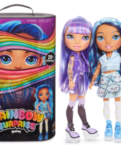 Rainbow Surprise by Poopsie: 14″ Doll with 20+ Slime & Fashion Surprises, Amethyst Rae or Blue Skye