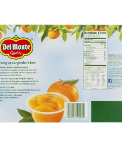 (12 Cups) Del Monte Fruit Cup Snacks Mandarin Oranges in 100% Juice, 4 oz fruit cups