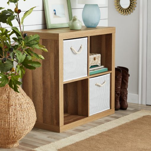 Better Homes & Gardens Square 4-Cube Organizer, Weathered
