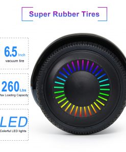 CBD Hoverboard 6.5″ Two-Wheel Self Balancing Hoverboard with Bluetooth Speaker and LED Lights Electric Scooter for Adult Kids Gift UL 2272 Certified