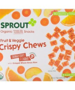 Organic Crispy Chews Toddler Fruit Snack With Whole Grains (Pack of 2)