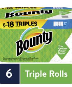 Bounty Paper Towels, Select-A-Size, White, 6 Triple Rolls =18 Regular Rolls