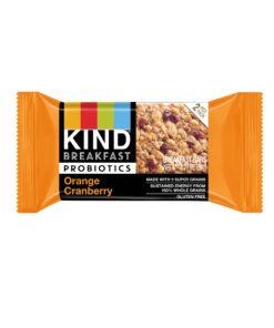 KIND Breakfast Probiotic Bars, Orange Cranberry, Gluten Free, 1.8oz, 4 Count