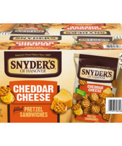Snyder's Pretzel Sandwiches, Cheddar Cheese, Individually Wrapped Snacks (30 Count)