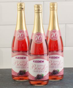 (Pack of 3) Kedem Sparkling Juice, Blush Grape, 25.4 fl oz