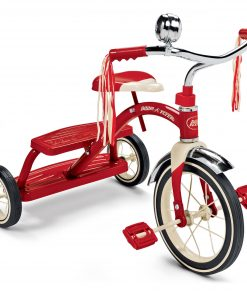 Radio Flyer, Classic Red Dual Deck Tricycle, 12″ Front Wheel, Red