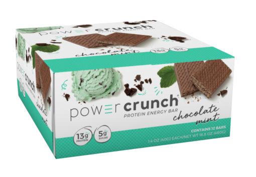 Powercrunch Original Protein Bar, 13g Protein, Chocolate Mint, 16.8 Oz, 12 Ct