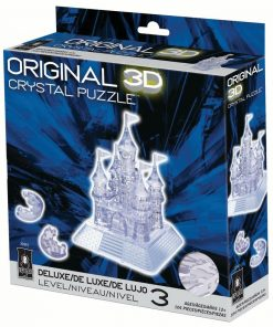 Deluxe 3D Crystal Puzzle – Clear Castle