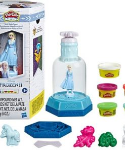Play-Doh Mysteries Disney Frozen 2 Snow Globe Playset, 5 Cans (6 oz)