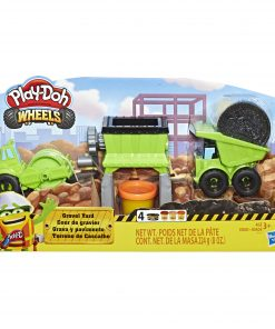 Play-Doh Wheels Gravel Yard Construction with Pavement Buildin' Compound, 3 Cans (8 oz)