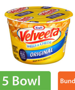 (5 Pack) Velveeta Original Shells & Cheese, 2.39 oz Tub