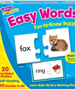 Trend, TEP36007, Easy Words Fun-to-Know Puzzles, 1 Each, Multicolor