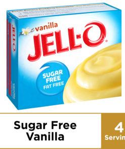 (4 Pack) Jell-O Instant Sugar-Free Fat-Free Vanilla Pudding & Pie Filling, 1 oz Box