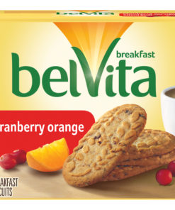 belVita Cranberry Orange Breakfast Biscuits, 5 Packs (4 Biscuits Per Pack)