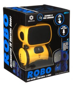 Braha Robo Interactive IR Control Robot: Yellow