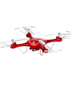 Syma X5UW Wifi FPV 2.4Ghz RC Drone Quadcopter with 720P HD Camera, Flight Plan Route App Control and Altitude Hold Function – Red