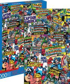 Aquarius – Marvel Captain America Collage – 1000 Piece Jigsaw Puzzle