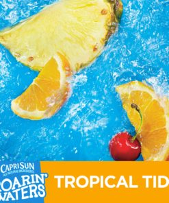 (4 Pack) Capri Sun Roarin' Waters Tropical Tide Fruit Flavored Water, 10 ct – Pouches, 60.0 fl oz Box
