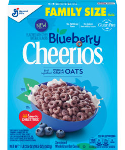 Blueberry Cheerios, Gluten Free Cereal, 19.5 oz