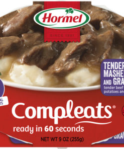 (6 pack) Hormel Compleats Beef Rib Tips with Mashed Potatoes and Gravy, 9 Ounce