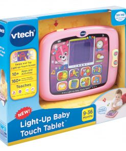 VTech Light-Up Baby Touch Tablet, Learning Toy for Baby, Pink