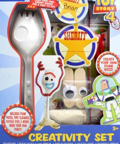 Toy Story 4 Craft Creativity Art Set: Make Your Own Forky and Other Characters, Gift for Kids, Ages 3+