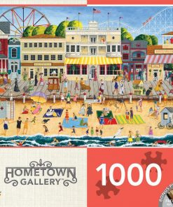 MasterPieces Hometown Gallery On the Boardwalk – Beach 1000 Piece Jigsaw Puzzle by Art Poulin