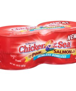(4 Cans) Chicken of the Sea Skinless Boneless Chunk Style Pink Salmon in Water, 5 oz
