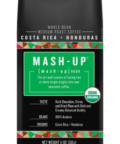 Boyer's Mash-Up Costa Rica + Honduras Blend Whole Bean Coffee, Medium Roast, 11 oz