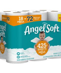Angel Soft Toilet Paper, 18 Mega Rolls (= 72 Regular Rolls)