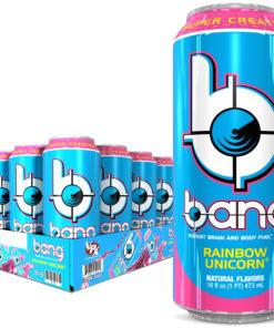 Bang Rainbow Unicorn Energy Drink with Super Creatine, 16oz 12pk