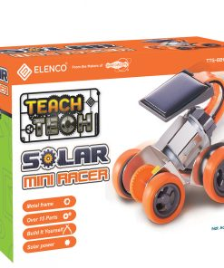 Teach Tech Mini-Solar Racer | Build-It-Yourself Solar Powered Robot | STEM Educational Toys for Kids Age 8+